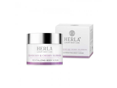 HERLA LUXURY BODY CARE atkuriantis odą kūno šveitiklis Cranberry and Cherry Blossom Revitalizing Body Scrub 200ml