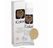 iCOLORI  plaukų dažai su argininu, aliejų kompleksu, sumažintu amoniako kiekiu profesionaliam naudojimui (90 ml) Nr. 10 Blond platino