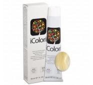 iCOLORI  plaukų dažai su argininu, aliejų kompleksu, sumažintu amoniako kiekiu profesionaliam naudojimui (90 ml) Nr. 11  Natural Blond Super Platina