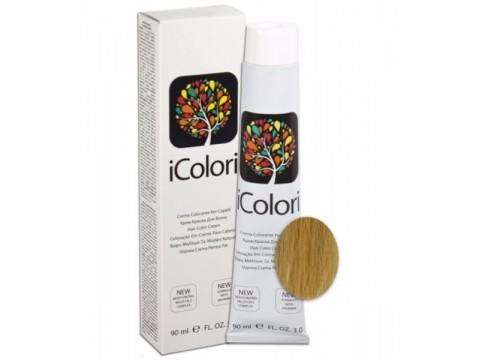 iCOLORI  plaukų dažai su argininu, aliejų kompleksu, sumažintu amoniako kiekiu profesionaliam naudojimui (90 ml) Nr. 11.3 Blond Dorato Super latino