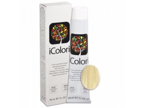 iCOLORI  plaukų dažai su argininu, aliejų kompleksu, sumažintu amoniako kiekiu profesionaliam naudojimui (90 ml) Nr. 12 Natur Blond super extra platino