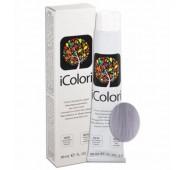 iCOLORI  plaukų dažai su argininu, aliejų kompleksu, sumažintu amoniako kiekiu profesionaliam naudojimui (90 ml) Nr. 12.11 Blond special cenere intenso