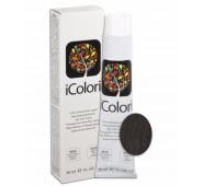 iCOLORI  plaukų dažai su argininu, aliejų kompleksu, sumažintu amoniako kiekiu profesionaliam naudojimui (90 ml) Nr. 4.1 CASTANO CENERE