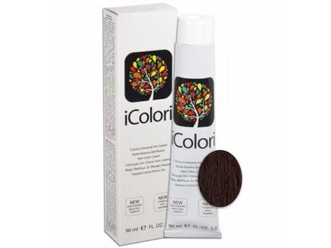 iCOLORI  plaukų dažai su argininu, aliejų kompleksu, sumažintu amoniako kiekiu profesionaliam naudojimui (90 ml) Nr.4.2 CASTANO VIOLA