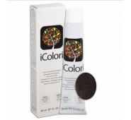 iCOLORI  plaukų dažai su argininu, aliejų kompleksu, sumažintu amoniako kiekiu profesionaliam naudojimui (90 ml) Nr. 4.3 CASTANO DORATO