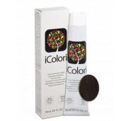 iCOLORI  plaukų dažai su argininu, aliejų kompleksu, sumažintu amoniako kiekiu profesionaliam naudojimui (90 ml) Nr. 5.03 CASTANO CHIARO NATURALE CALDO