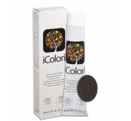 iCOLORI  plaukų dažai su argininu, aliejų kompleksu, sumažintu amoniako kiekiu profesionaliam naudojimui (90 ml) Nr. 5.1 CASTANO CHIARO CENERE