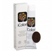 iCOLORI  plaukų dažai su argininu, aliejų kompleksu, sumažintu amoniako kiekiu profesionaliam naudojimui (90 ml) Nr.5.23 CASTANO CHIARO TABACCO