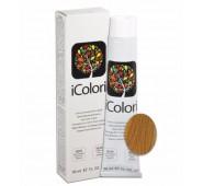 iCOLORI  plaukų dažai su argininu, aliejų kompleksu, sumažintu amoniako kiekiu profesionaliam naudojimui (90 ml) Nr. 5.4 CASTANO CHIARO RAME