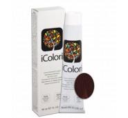 iCOLORI  plaukų dažai su argininu, aliejų kompleksu, sumažintu amoniako kiekiu profesionaliam naudojimui (90 ml) Nr. 5.6 CASTANO CHIARO ROSSO