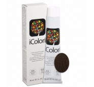 iCOLORI  plaukų dažai su argininu, aliejų kompleksu, sumažintu amoniako kiekiu profesionaliam naudojimui (90 ml) Nr. 6.03 BIONDO SCURO NATURALE CALDO