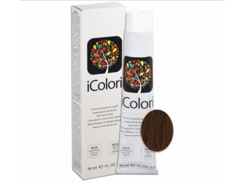 iCOLORI  plaukų dažai su argininu, aliejų kompleksu, sumažintu amoniako kiekiu profesionaliam naudojimui (90 ml) Nr.6.23 BIONDO SCURO TABACCO