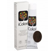 iCOLORI  plaukų dažai su argininu, aliejų kompleksu, sumažintu amoniako kiekiu profesionaliam naudojimui (90 ml) Nr. 6.23 BIONDO SCURO TABACCO