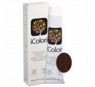 iCOLORI  plaukų dažai su argininu, aliejų kompleksu, sumažintu amoniako kiekiu profesionaliam naudojimui (90 ml) Nr. 6.5 BIONDO SCURO MOGANO