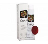 iCOLORI  plaukų dažai su argininu, aliejų kompleksu, sumažintu amoniako kiekiu profesionaliam naudojimui (90 ml) Nr. 6.666 BIONDO SCURO ROSSO EXTRA INTENSO