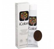 iCOLORI  plaukų dažai su argininu, aliejų kompleksu, sumažintu amoniako kiekiu profesionaliam naudojimui (90 ml) Nr. 6.8 BIONDO SCURO CIOCCOLATO
