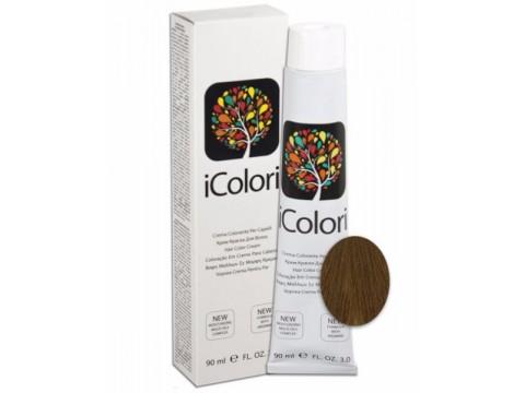 iCOLORI  plaukų dažai su argininu, aliejų kompleksu, sumažintu amoniako kiekiu profesionaliam naudojimui (90 ml) Nr. 7 BIONDO