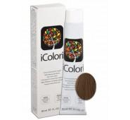 iCOLORI  plaukų dažai su argininu, aliejų kompleksu, sumažintu amoniako kiekiu profesionaliam naudojimui (90 ml) Nr.7.03 BIONDO NATURALE CALDO