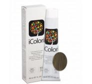 iCOLORI  plaukų dažai su argininu, aliejų kompleksu, sumažintu amoniako kiekiu profesionaliam naudojimui (90 ml) Nr. 7.2 BIONDO MATT