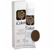 iCOLORI  plaukų dažai su argininu, aliejų kompleksu, sumažintu amoniako kiekiu profesionaliam naudojimui (90 ml) Nr. 7.3  BIONDO DORATO