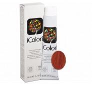 iCOLORI  plaukų dažai su argininu, aliejų kompleksu, sumažintu amoniako kiekiu profesionaliam naudojimui (90 ml) Nr. 7.44 BIONDO RAME INTENSO