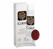 iCOLORI  plaukų dažai su argininu, aliejų kompleksu, sumažintu amoniako kiekiu profesionaliam naudojimui (90 ml) Nr. 7.66 BIONDO ROSSO INTENSO