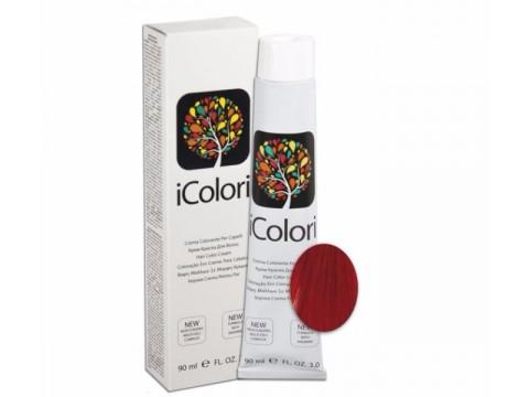 iCOLORI  plaukų dažai su argininu, aliejų kompleksu, sumažintu amoniako kiekiu profesionaliam naudojimui (90 ml) Nr. 7.666 BIONDO ROSSO EXTRA INTENSO