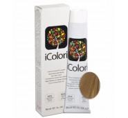 iCOLORI  plaukų dažai su argininu, aliejų kompleksu, sumažintu amoniako kiekiu profesionaliam naudojimui (90 ml) Nr. 8.03 BIONDO CHIARO NATURALE CALDO
