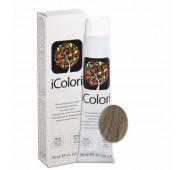 iCOLORI  plaukų dažai su argininu, aliejų kompleksu, sumažintu amoniako kiekiu profesionaliam naudojimui (90 ml) Nr. 8.1 BIONDO CHIARO CENERE