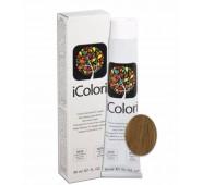 iCOLORI  plaukų dažai su argininu, aliejų kompleksu, sumažintu amoniako kiekiu profesionaliam naudojimui (90 ml) Nr. 8.3 BIONDO CHIARO DORATO