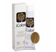 iCOLORI  plaukų dažai su argininu, aliejų kompleksu, sumažintu amoniako kiekiu profesionaliam naudojimui (90 ml) Nr. 8.33 BIONDO CHIARO