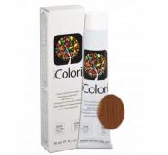 iCOLORI  plaukų dažai su argininu, aliejų kompleksu, sumažintu amoniako kiekiu profesionaliam naudojimui (90 ml) Nr. 8.34 CHIARO ORO RAMATO