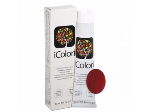 iCOLORI  plaukų dažai su argininu, aliejų kompleksu, sumažintu amoniako kiekiu profesionaliam naudojimui (90 ml) Nr. 8.66 BIONDO CHIARO ROSSO INTENSO