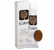 iCOLORI  plaukų dažai su argininu, aliejų kompleksu, sumažintu amoniako kiekiu profesionaliam naudojimui (90 ml) Nr. 8.8 BIONDO CHIARO CIOCCOLATO