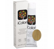 iCOLORI  plaukų dažai su argininu, aliejų kompleksu, sumažintu amoniako kiekiu profesionaliam naudojimui (90 ml) Nr. 9 BIONDO CHIARISSIMO