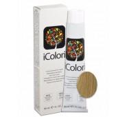 iCOLORI  plaukų dažai su argininu, aliejų kompleksu, sumažintu amoniako kiekiu profesionaliam naudojimui (90 ml) Nr. 9.03 BIONDO CHIARISSIMO NATURALE CALDO