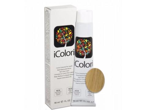 iCOLORI  plaukų dažai su argininu, aliejų kompleksu, sumažintu amoniako kiekiu profesionaliam naudojimui (90 ml) Nr. 9.3 BIONDO CHIARISSIMO DORATO