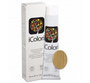 iCOLORI  plaukų dažai su argininu, aliejų kompleksu, sumažintu amoniako kiekiu profesionaliam naudojimui (90 ml) Nr. 9.33 BIONDO CHIARISSIMO DORATO INTENSO