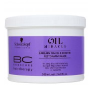 Schwarzkopf BC Oil Miracle Barbary Fig Oil & Keratin Restorative Mask Atstatomoji Kaukė 500 ML