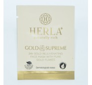 HERLA 24k Gold atjauninanti veido kaukė su aukso dalelėmis Rejuvenating Face Mask With Pure Gold Flakes 6ml