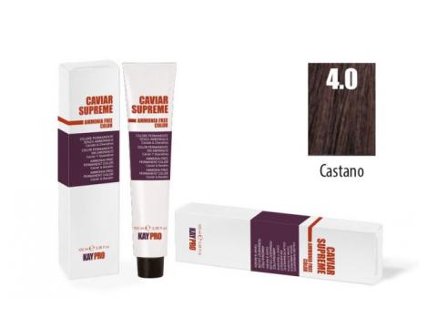 CAVIAR SUPREME - CREMA COLORANTE Kreminiai plaukų dažai be amoniako ir pPD 4.0 CASTANO