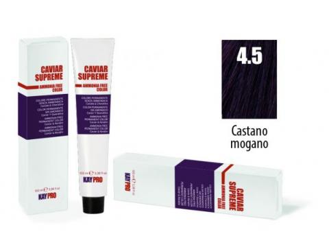 CAVIAR SUPREME - CREMA COLORANTE Kreminiai plaukų dažai be amoniako ir pPD 4.5 Castano mogano