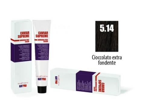 CAVIAR SUPREME - CREMA COLORANTE Kreminiai plaukų dažai be amoniako ir pPD 5.14 Ciocciolato extra fondete