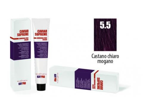 CAVIAR SUPREME - CREMA COLORANTE Kreminiai plaukų dažai be amoniako ir pPD 5.5 Castano chiaro mogano