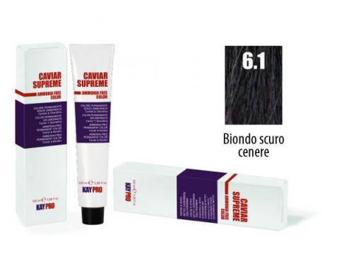 CAVIAR SUPREME - CREMA COLORANTE Kreminiai plaukų dažai be amoniako ir pPD 6.1 Biondo scuro cenere