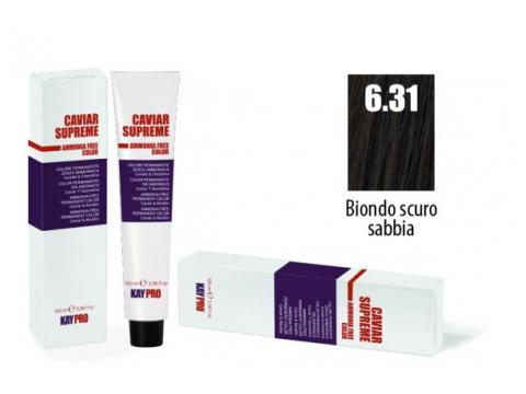 CAVIAR SUPREME - CREMA COLORANTE Kreminiai plaukų dažai be amoniako ir pPD 6.13 Biondo scuro sabbia