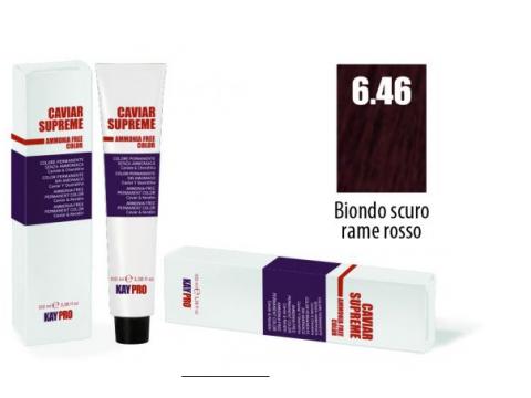 CAVIAR SUPREME - CREMA COLORANTE Kreminiai plaukų dažai be amoniako ir pPD 6.46 Bianco scuro rame rosso