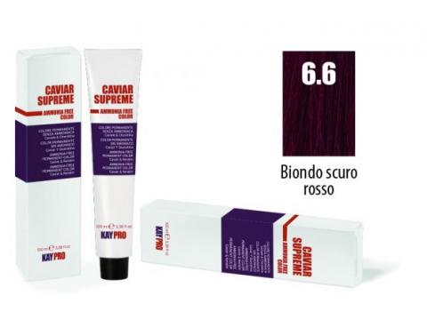 CAVIAR SUPREME - CREMA COLORANTE Kreminiai plaukų dažai be amoniako ir pPD 6.6 Biondo scuro rosso