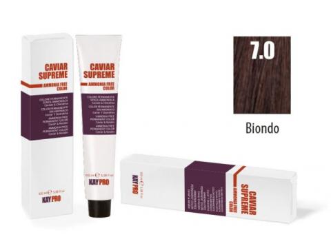 CAVIAR SUPREME - CREMA COLORANTE Kreminiai plaukų dažai be amoniako ir pPD 7.0 Biondo