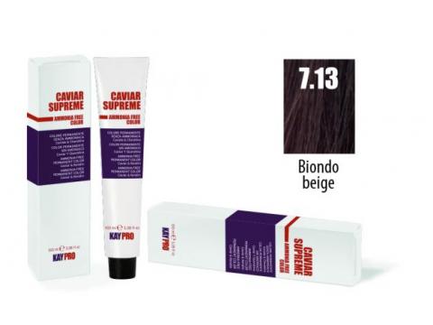 CAVIAR SUPREME - CREMA COLORANTE Kreminiai plaukų dažai be amoniako ir pPD 7.13 Biondo beige